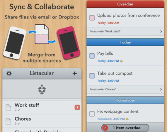Listacular: Excelente to-do list para iOS