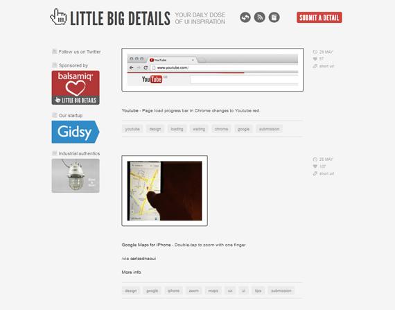 Little Big Details: Pequeños detalles de la web