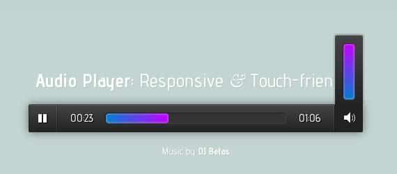 responsive reproductor de audio gratis