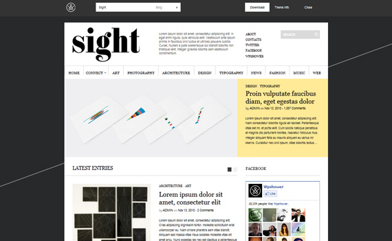 Sight: Plantilla estilo magazine para WordPress