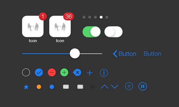 Detalle de elementos pequeños iOS7
