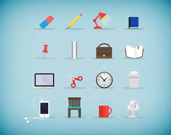 Iconos de elementos de oficina y jard n kabytes for Elementos para oficina