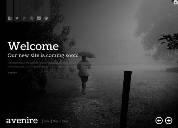 Avenir - Plantilla para Coming Soon en HTML