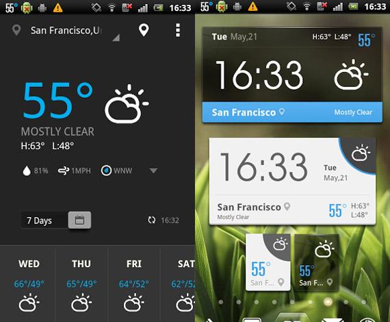 EZ Weather: Widgets e información climática en Android