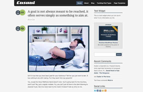 Casual: Theme con estilo Tumblr para WordPress