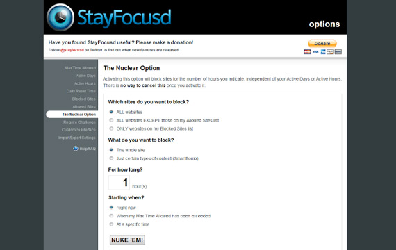 StayFocusd: Evitando distracciones en Chrome