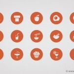 Iconos de alimentos en formato PSD