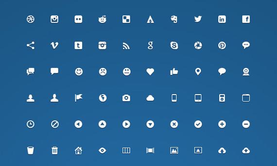 Mini iconos gratuitos PSD