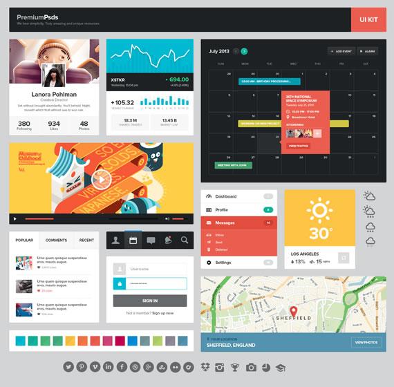 UI Kit estilo plano