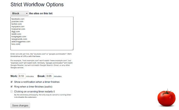 Timer para técnica Pomodoro en Chrome