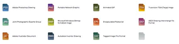 iconos extensiones de archivos