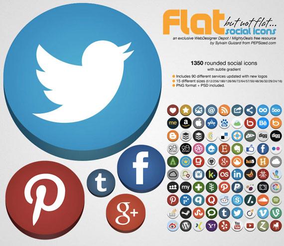colecci243n de 237conos sociales planos circulares con efecto