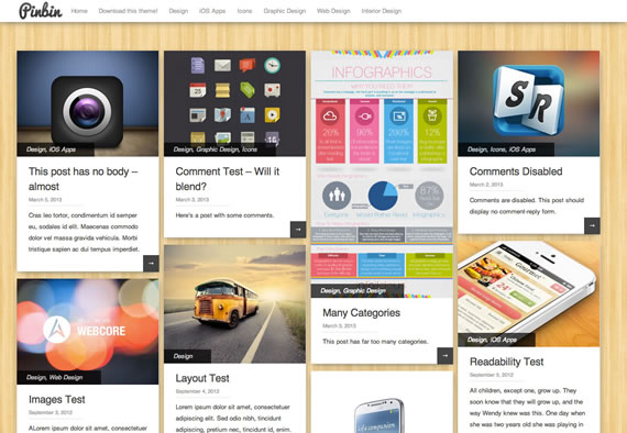 Plantilla para Wordpress estilo Pinterest