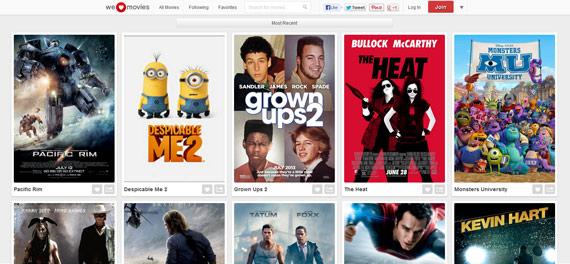 Creando colecciones de películas con We Heart Movies