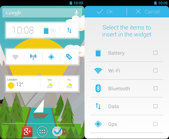 Widget personalizable para Android