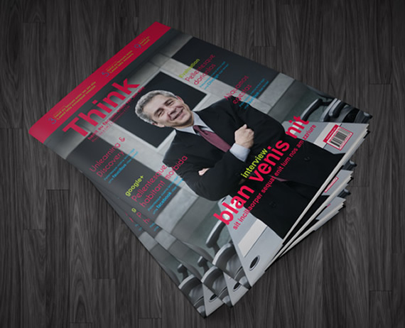 Revista de negocios tapa blanda