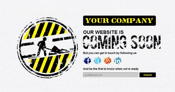 """Plantillas Web """"Estamos trabajando"""""""