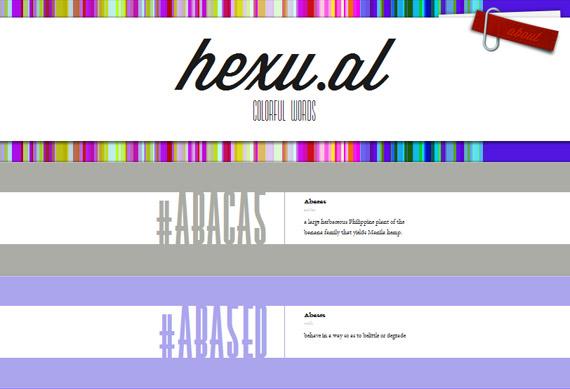 Hexu.al: Colores hexadecimales en palabras