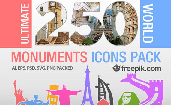 Vectores de monumentos mundiales