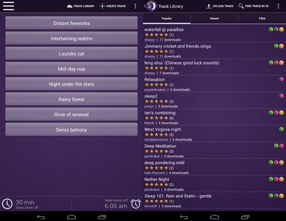 Sonidos relajantes en Android