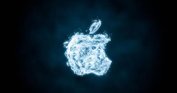 Logo de Apple hecho en agua