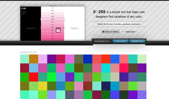 Escalas de colores hexadecimales para degradados