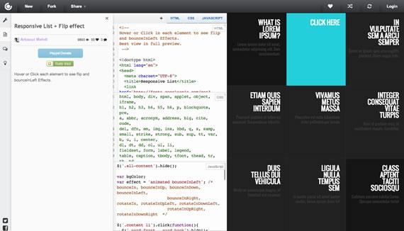 CSSDeck: implementaciones de elementos con CSS