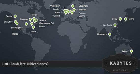 CDN CloudFlare ubicaciones