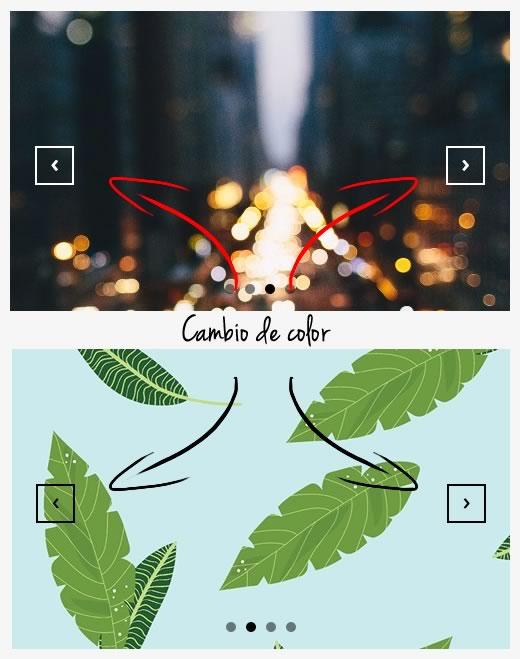 cambiar el color de un elemento según su entorno