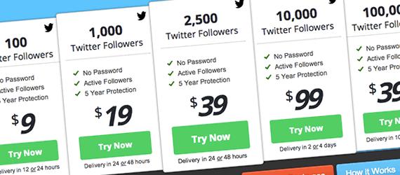 compra de followers de Twitter