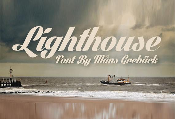 Lighthouse font