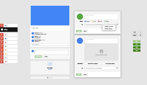 UI de Google+ en PSD gratuita