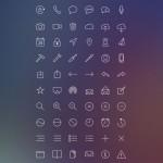 Completo set de iconos estilo iOS: Inspired Line