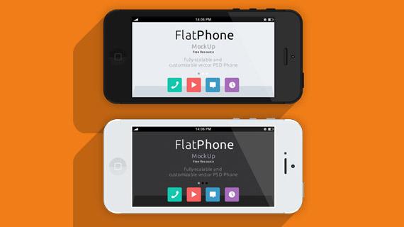 iPhone 5 en PSD gratuito