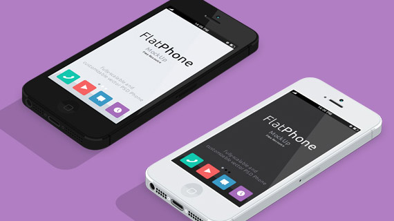 iPhone 5 en PSD gratuito