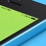Mockup 3D isométrica del iPhone 5C