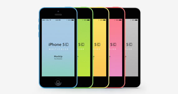 Mockup Frontal del iPhone 5C