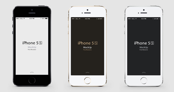 Mockup frontal de iPhone 5S