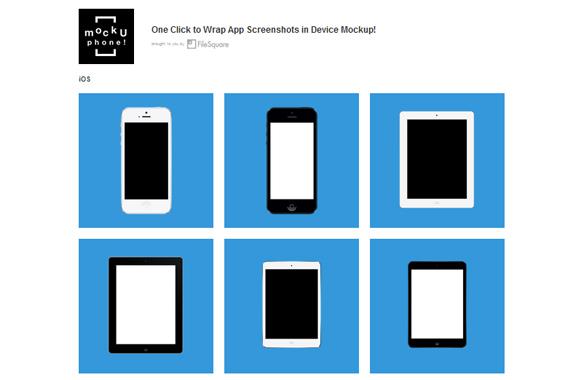 Crea mockups online gratis con MockUPhone