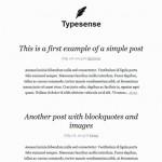 Temas gratis para WordPress: Typesense