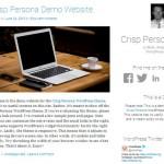 Crisp: Theme de diseño adaptable minimalista para WordPress