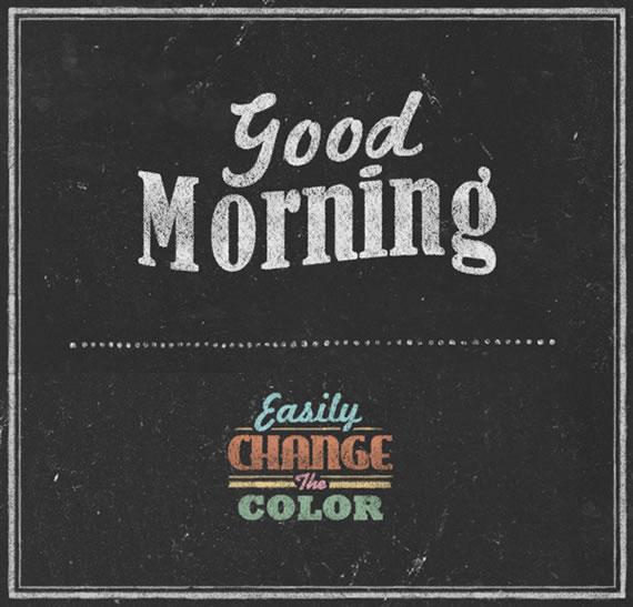 Chalkboard Typography - Efecto para Photoshop
