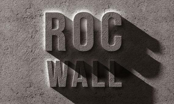 Concrete Rock Text Effect - Efectos para Photoshop