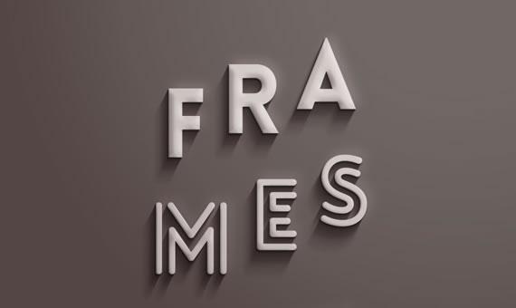 Frames Text Effect - Efectos para Photoshop