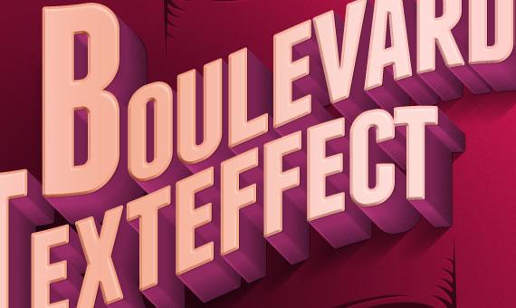 Boulevard Retro Text Effect - Efectos para Photoshop