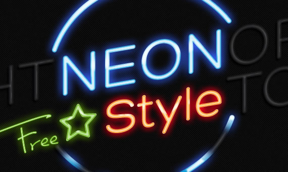 Neon Text Effect - Efectos para Photoshop
