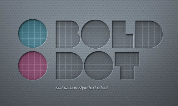 Soft Carbon Text Effect - Efectos para Photoshop