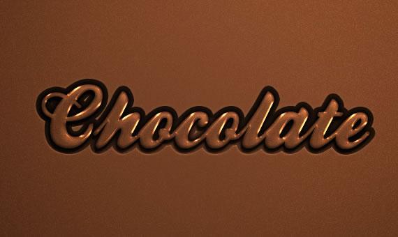 Chocolate Text Effect - Efectos para Photoshop