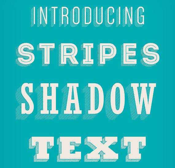 Stripes Shadow Text Effect - Efectos para Photoshop