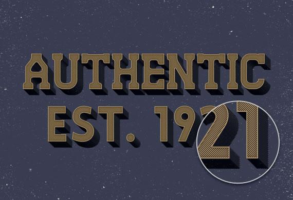Authentic Text Effect - Efectos para Photoshop